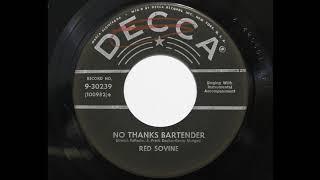 Red Sovine - No Thanks Bartender (Decca 30239) YouTube Videos