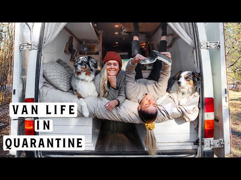 ORDERED TO QUARANTINE | Van Life A Day In The Life Canada | Lesbian Couple Vlog