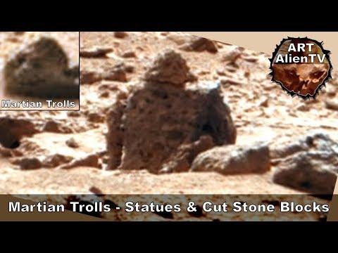 Mars Statues, Structures & Trolls - Curiosity Rover Finds - ArtAlienTV