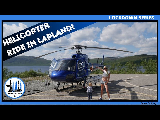 Helicopter flight over Kilpisjarvi, Lapland, Finland. Things to do in summer in Lapland