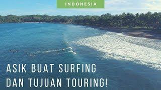 Pantai Batu Karas Beach Pangandaran  [ Drone Video Wisata Pangandaran Jawa Barat ]