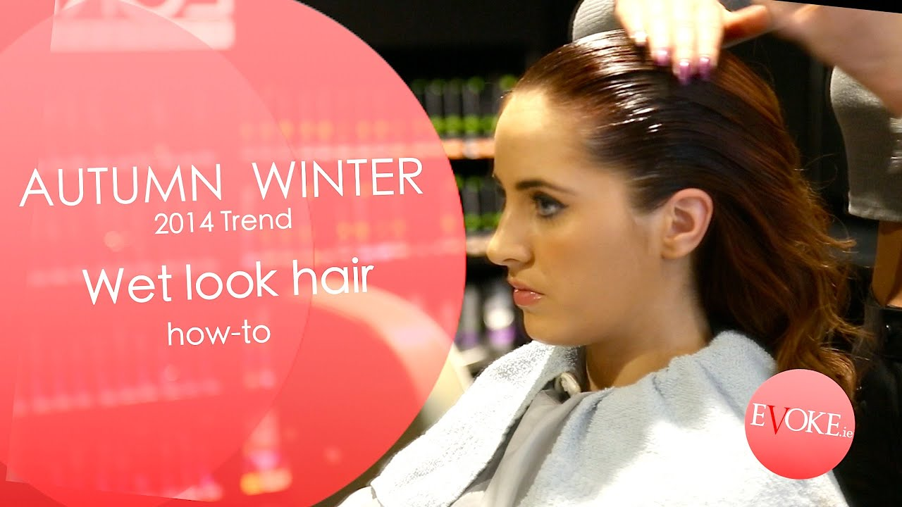 Hair how to: Wet look hair - YouTube
