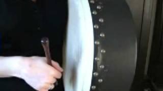 Triplets & Rolls Using Top Of Bodhran Tipper Part 2 (Free Bodhran Lesson)