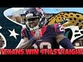 Texans beat Jaguars! 1st in the AFC South! Texans vs Jags Recap