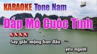 Đắp Mộ Cuộc Tình Karaoke Tone Nam | Nhạc Sống Thanh Ngân