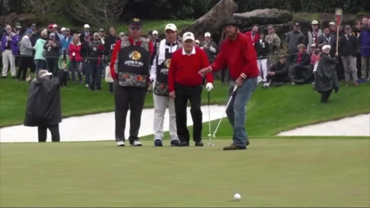 Kid Rock makes 40-foot putt in front of Jack Nicklaus