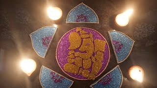 #Diwali #decoration #ganpati #ganesh #navratri #festivediy HOW TO MAKE GANPATI FOAM RANGOLI
