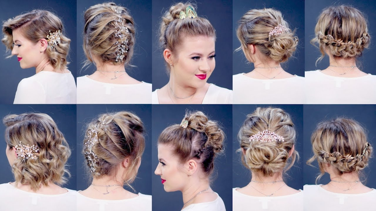 5 Elegant Prom Hairstyles Milabu Youtube