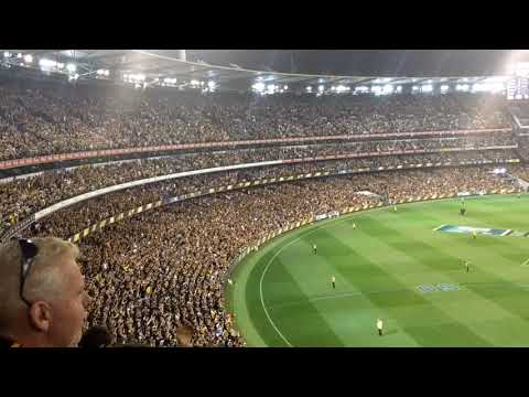Yet another sing-along with 94,000+ Richmond v. GWS 2017
