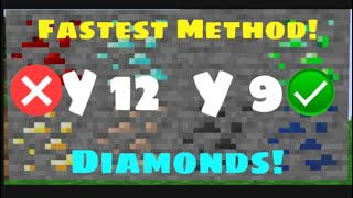 Minecraft Simple and Easy Way To Find Diamond! (FASTEST METHOD)
