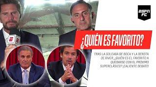 ¿Quién llega como favorito al #Superclásico entre #Boca y #River? ¡CALIENTE DEBATE en #ESPNFC!