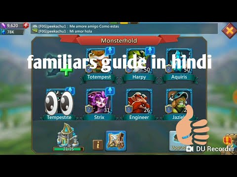 Lord's Mobile Familiar Guide In Hindi | Lords Mobile Gameplay