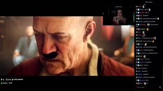 Sodapoppin Reacts To Hitler Scene   Wolfenstein 2: The New Colossus