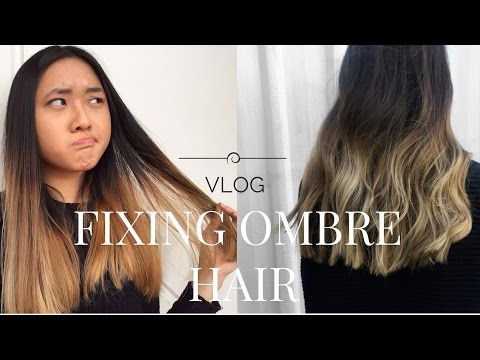 Fixing My Ombre Balayage Hair Youtube
