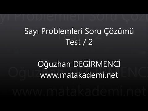 Matematik Soru Çözümü-Sayı Problemleri Test / 2
