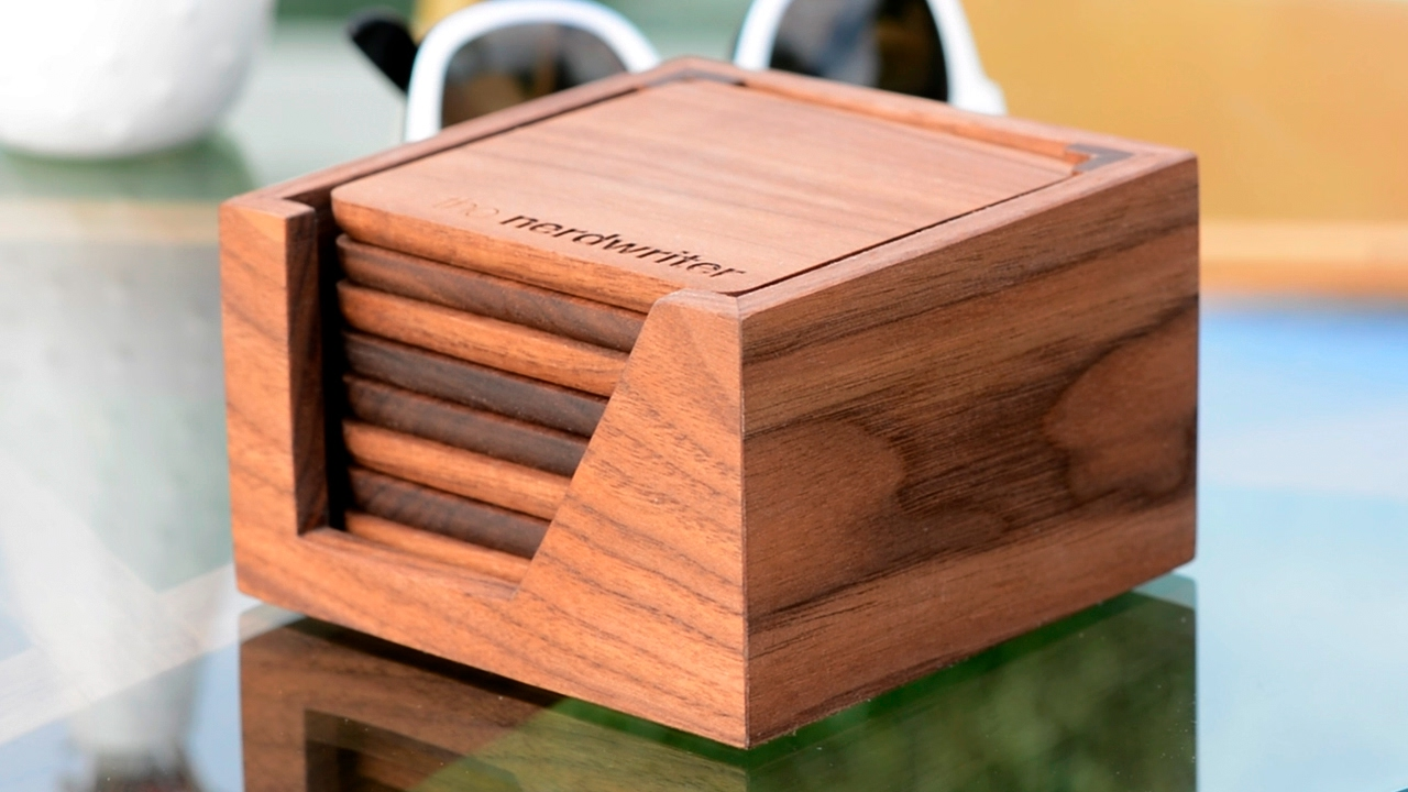 Wooden Coaster Holder Custom Coasters For Casey Neistat And The Nerdwriter Woodworking Projects
