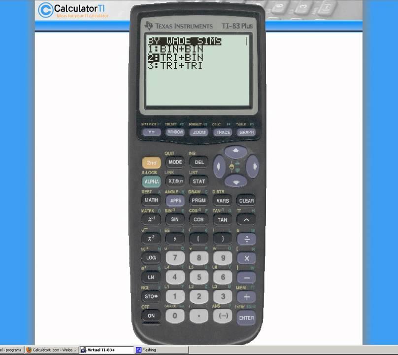 Pong program on the ti 83/84+ calculator youtube.