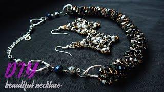 Шикарное колье своими руками.Колье-жгут из бисера и кристалов.necklace Of Beads. Beading.DIY.