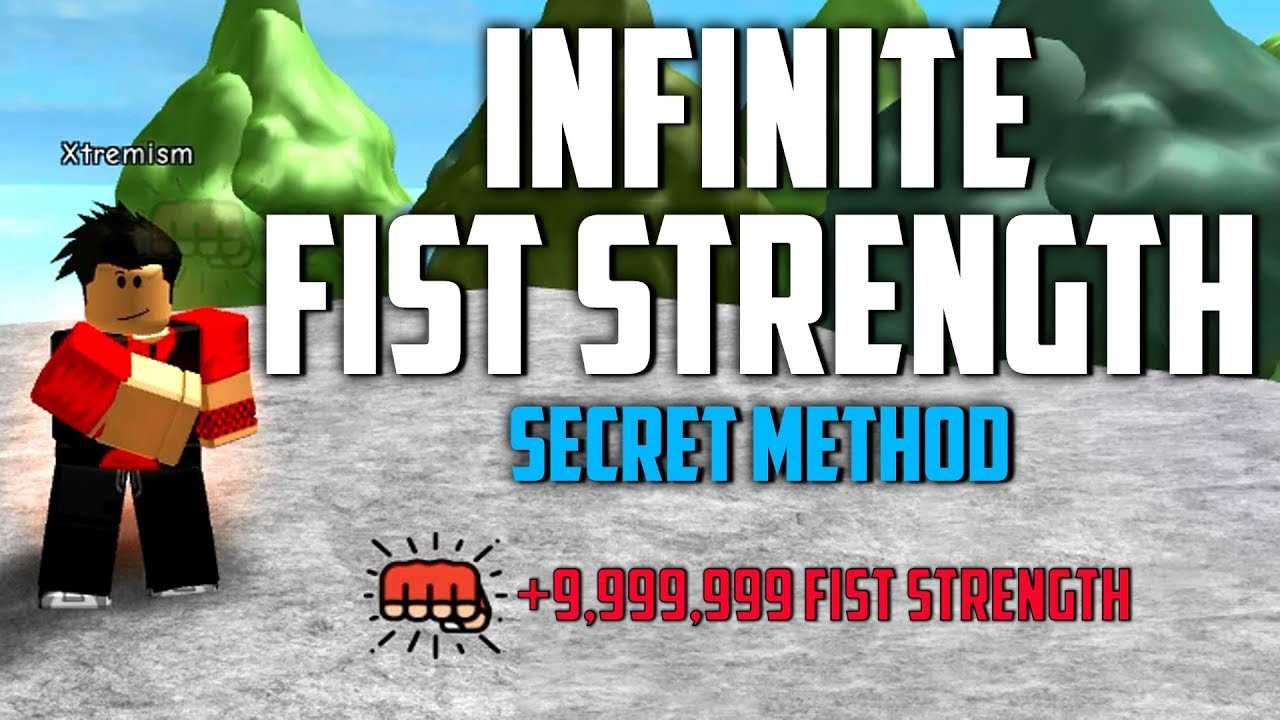 How To Get Infinite Fist Strength Afk Farming In Roblox Super