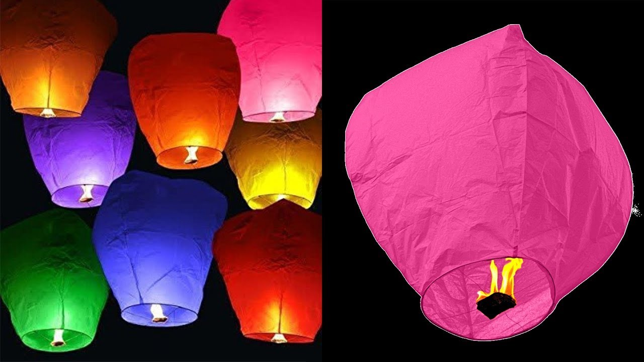 How To Make A Sky Lantern At Home - DIY Crafts - YouTube