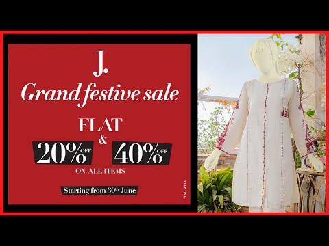 J. Junaid Jamshid Grand Festive Sale 2021   Junaid Jamshid Sale Today   Zee Vlogs