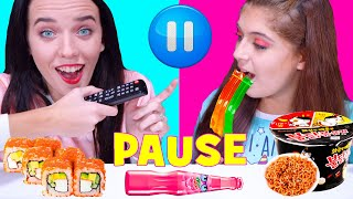 ASMR PAUSE CHALLENGE! EATING SOUNDS By LiLiBu