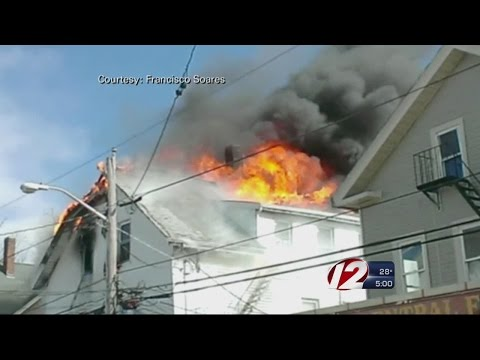 Crews Battle Flames at Central Falls Home