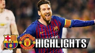 Barcelona vs manchester united 3-0 - all goals & highlights 16/04/2019 hd from stands