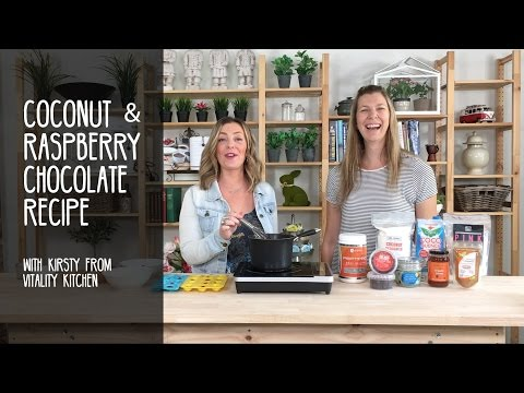 Coconut & Raspberry Chocolate Recipe with Kirsty from Vitality Kitchen