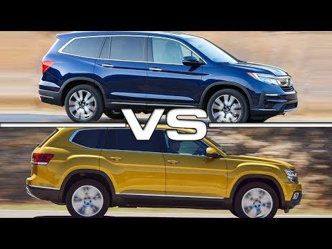 2019 Honda Pilot vs 2018 Volkswagen Atlas