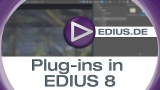 EDIUS Podcast - Plug-Ins in EDIUS 8