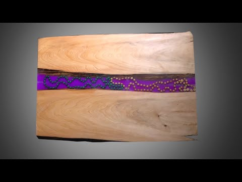 How to Make Epoxy Resin Wood Wall Art with LED Strip Lights