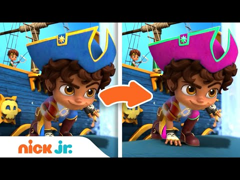 Spot the Difference Game #4 w/ Santiago of the Seas! | Nick Jr.