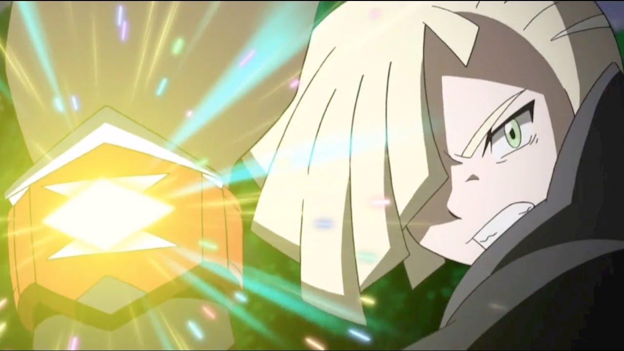 Gladion vs Ash ( Lycanroc Vs Rockruff ) Pokemon Sun Moo