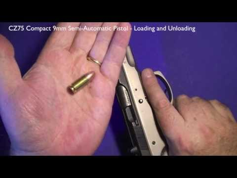 CZ75 Compact 9mm Semi-Automatic Pistol. Loading and Unloading