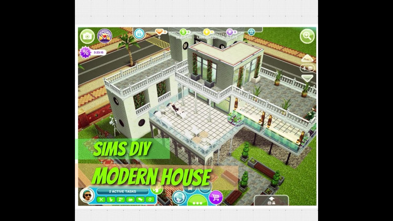 Modern House Small Lot Sims Freeplay YouTube