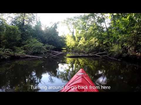 Kayaking Nankin Lake, Middle Rouge River, Dam, Livonia, MI [HD] 23 min