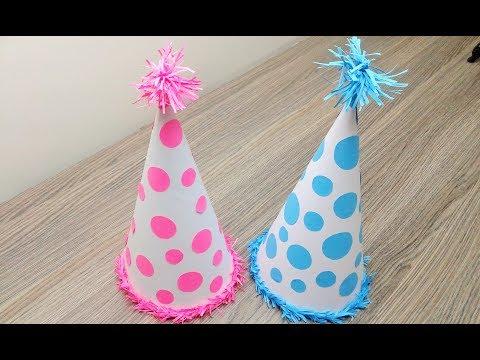 How to make Birthday Cap - Art and Craft