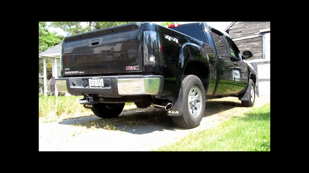 2011 Gmc Sierra Borla Exhaust Youtube