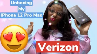 Unboxing My IPhone 12 Pro Max From Verizon