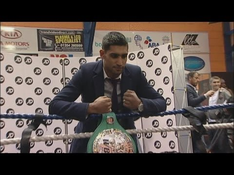 Boxer Amir Khan arrested in Bolton on suspicion of assault