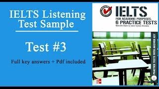 ielts for academic purpose listening test 3 full keys pdf included