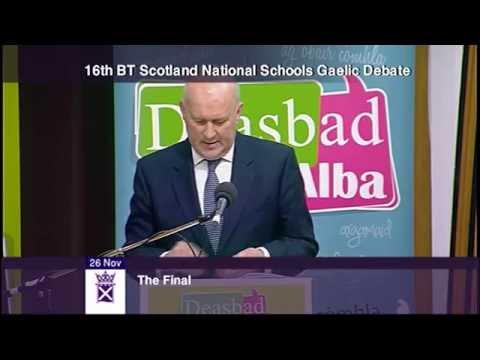 The BT Scotland National Schools Gaelic Debate Final (English translation)