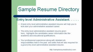 entry level administrative assistant.mp4