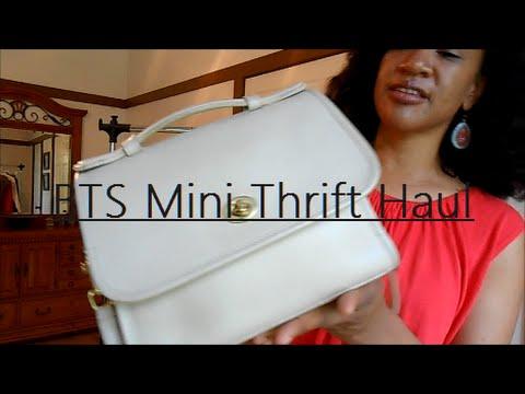 BTS  Mini Thrift Haul: Vintage Coach, Antonio Melani, and More!