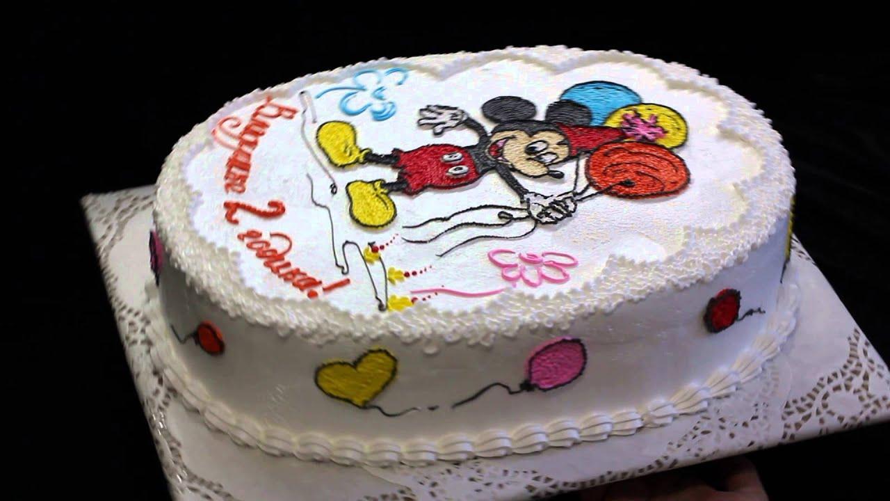 Торт микки маус из крема