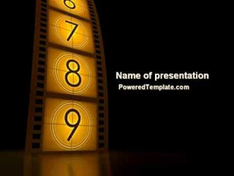 Cinema strip powerpoint template by poweredtemplate youtube toneelgroepblik Image collections