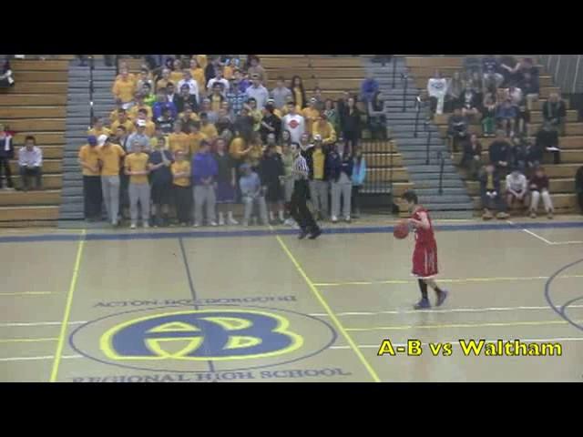 Acton Boxborough Varsity Boys Basketball vs Waltham 1/14/14