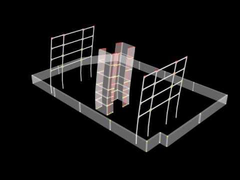 Brower Center earthquake response simulation