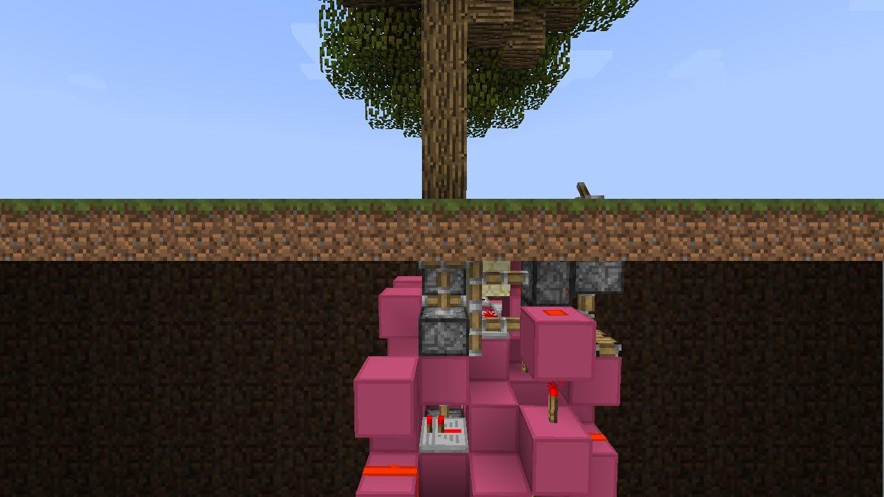 Minecraft Tutorial: Tiny Hidden Tree Door [6x4x6]   YouTube